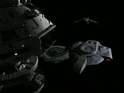 Defiant and Rotarran at Starbase 375