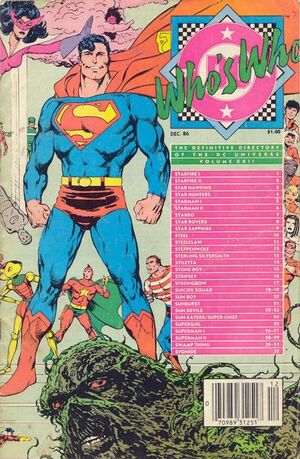 Cover for Who&#39;s Who: The Definitive Directory of the DC Universe #22