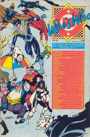 Cover for Who's Who: The Definitive Directory of the DC Universe #17