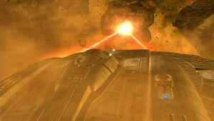 Enterprise firing forward phase cannons