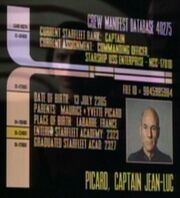 Jean Luc Picard personnel file