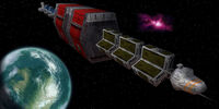 Cargo Freighter In Space