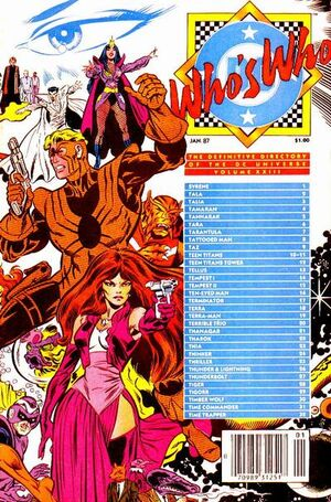 Cover for Who&#39;s Who: The Definitive Directory of the DC Universe #23