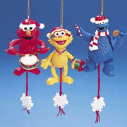 Kurt Adler Sesame Street pull puppets