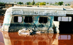 Bus at the Salton Sea