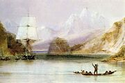 HMS Beagle by Conrad Martens