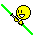 Double Bladed Lightsaber Smiley Green