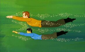 Kirk and Spock Underwater