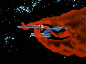 Cosmic cloud engulfs the Enterprise