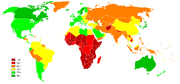 Life expectancy world map