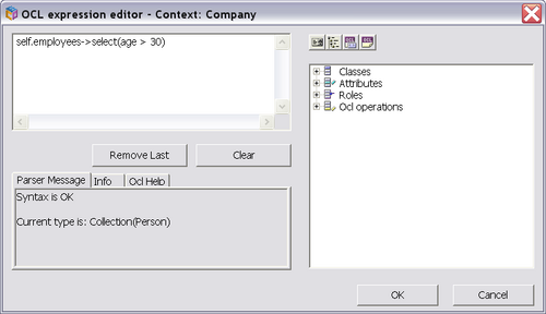 ECO OCL editor