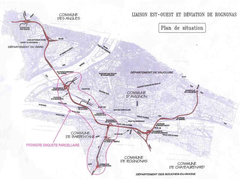 Plan de la LEO. © DDE Vaucluse