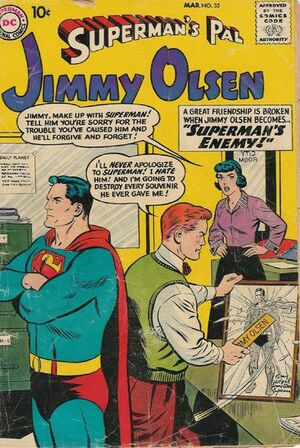 Cover for Superman&#39;s Pal, Jimmy Olsen #35