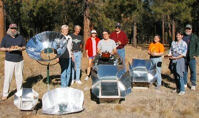 Solar cooking potluck