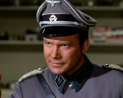 Kirk dressed in Nazi attire