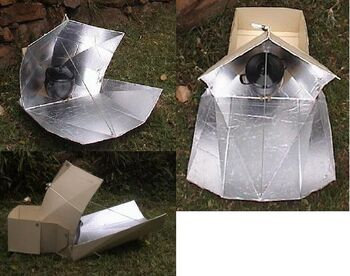Pentagon Star solar cooker