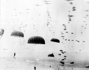 Waves of paratroops land in Holland