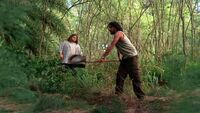 3x19 Sayid with shovel