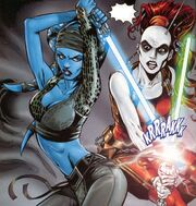 Aayla Secura vs Aurra Sing