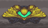 Samus Aran's Hunter-Class Gunship from Super Metroid