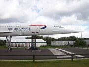 Concorde At Manchester Airport Viewing Park