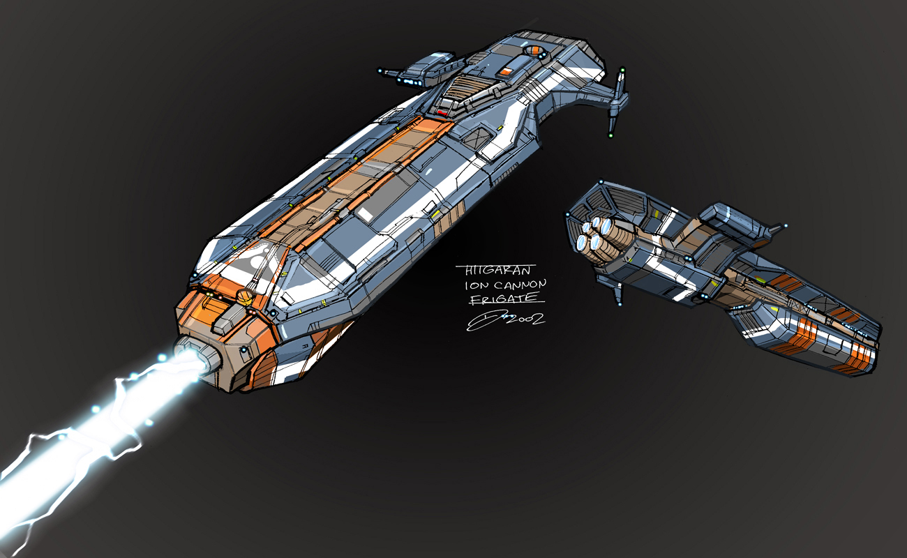 Homeworld Ion Cannon Frigate Panning A Build