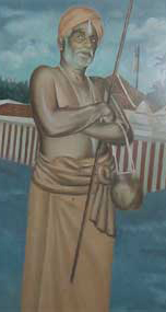 Man with Thirunamam And Headgear
