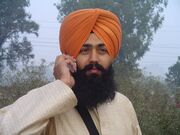 Sikh wearing turban