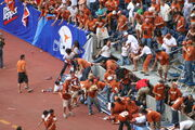 Partial stadium collapse at Big12 college football championship - 2005