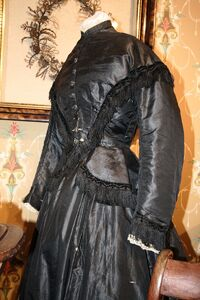 Mourning dress, 19th century