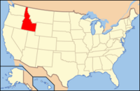 Map of USA ID
