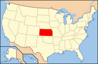 Map of USA KS