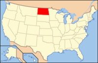 Map of USA ND