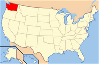 Map of USA WA