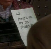 Ferengi written message
