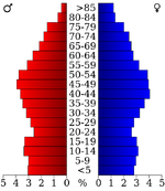 USA Roane County, Tennessee.csv age pyramid