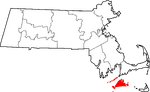 State map highlighting Dukes County