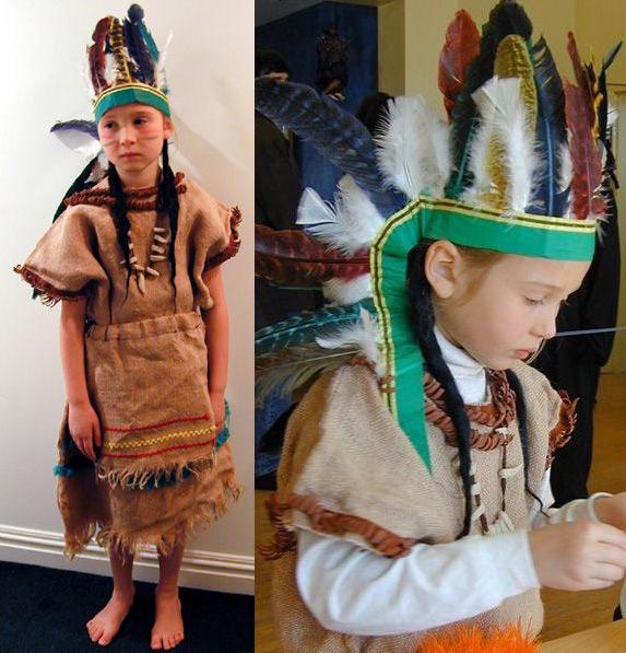Как сделать костюм индейца своими руками для мальчика