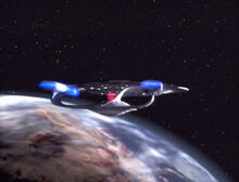 Enterprise-D orbits Starbase 234