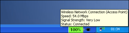 Windows signal strength 2