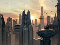 Coruscant view EII 1