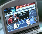 StarTrek.com on screen