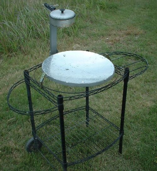 West's Parabolic Solar Canner Boiler Steamer cart 009
