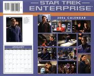 Star Trek Enterprise Calendar 2006 back