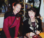 Pam Blackwell and Majel Barrett