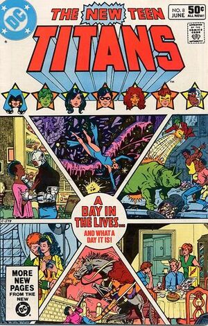 Cover for New Teen Titans #8