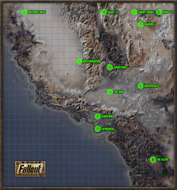 Fallout 3 location map