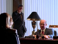 Walter Skinner and the Cigarette Smoking Man with Dana Scully