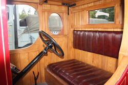 Ford truck cab interior early at Harewood