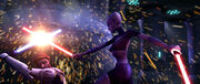 Obi-Wan vs Ventress Teth